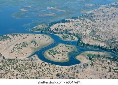 Start of the Savuti Channel, Linyanti, Botswana