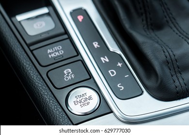 Start Stop Engine Button And Automatic Transmission Display