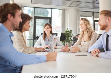 Start up team on a meeting on their office