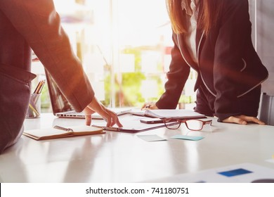 Start up teamwork diversity and Inclusion concept : Business Team Coworker working planning with colleague in office