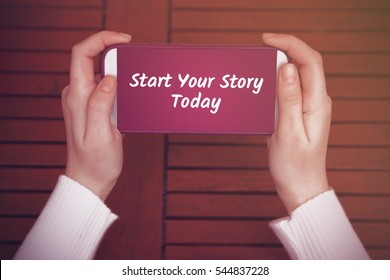 Start Your Story Today, Business Concept