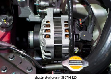 The starter motor of car