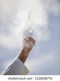Starting Gun with smoke
