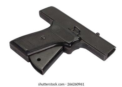 starting pistol isolated on white background