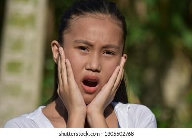Startled Cute Filipina Girl