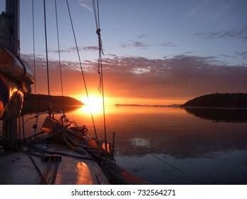 Startling Sailing Sunset