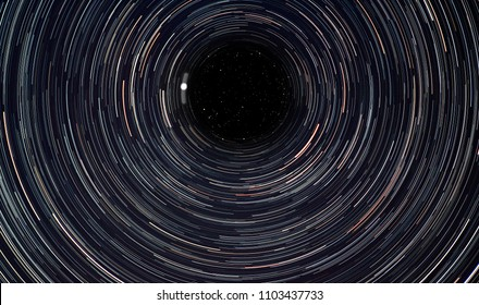 a startrail shot to the sky north pole with Polaris