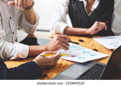 Start-up Business, a team of young entrepreneurs working together to increase profits into the company to increase business potential, vintage effect.