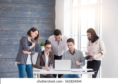 Startup diversity teamwork brainstorming meeting concept. Business young multiethnic team working and planning Start Up in modern office