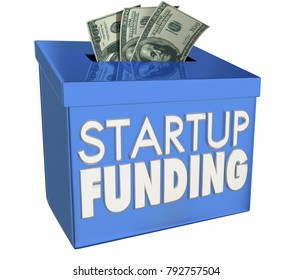 Startup Financing New Business Raise Money Funds 3d Illustration
