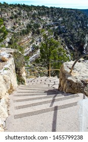 Starway path in Walnut Canyon National Monument in Flagstaff Arizona
