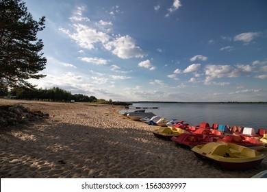 Stary Dwór beach complex by Siemianowka Lake