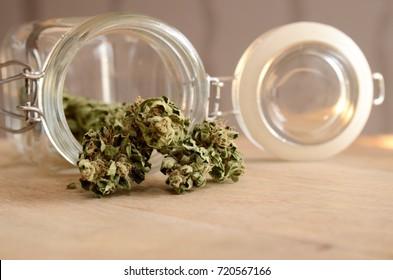 Stash of home grown cannabis