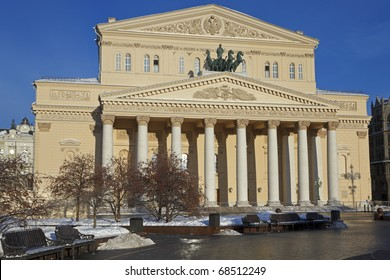 The State Academic Bolshoi Theater Opera and Ballet after renovation, Moscow, Russia