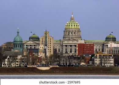 State Capitol Complex panorama in Harrisburg, the capital of Pennsylvania