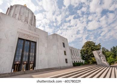 State capitol complex in Salem, capital of Oregon state