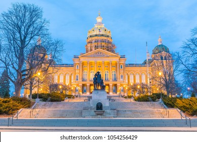 State Capitol in Des Moines, Iowa USA