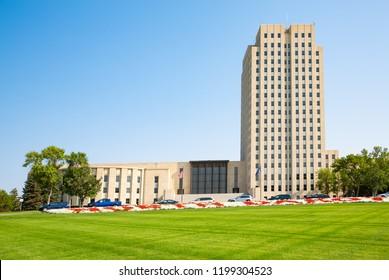 State Capitol of North Dakota in Bismarck, USA, historic landmark