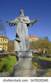 The State castle, baroque Bridge and the River Oslava, Namest nad Oslavou, Czech Republic - Shutterstock ID 1678320340