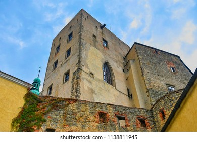 State castle Buchlov. The first building of the castle dates back to the 13th century. Region South Moravia, Czech Republic.