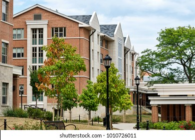State College, Pennsylvania, August 10, 2016 - Dormitories on the main campus of Penn State University.