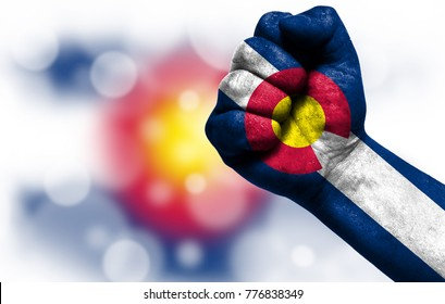 State of Colorado on fist