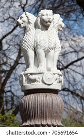 State Emblem of India. Lion Capital of the Pillars of Ashoka from Sarnath.