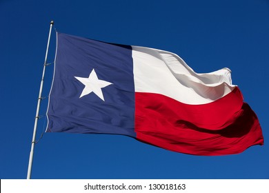 State Flag of Texas waving in the wind