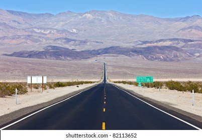 State Highway 190 going over Panamint  Range to Death Valley.