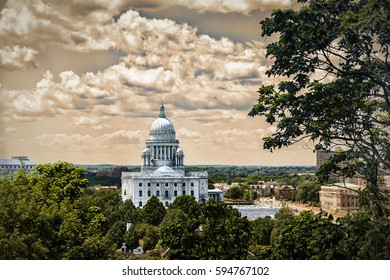 State house building in Providence, Rhode Island. USA