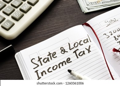 State and local income tax written in a note.