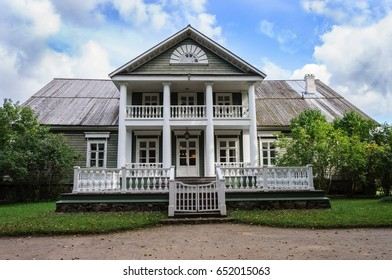 State Museum-reserve of A. S. Pushkin - Petrovskoe village in Pskov Region, Russia. The House of Peter Abramovich and Benjamin Petrovich Hannibal