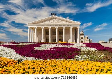 State opera and ballet theatre Astana Opera. Kazakhstan, Astana, July 24, 2017