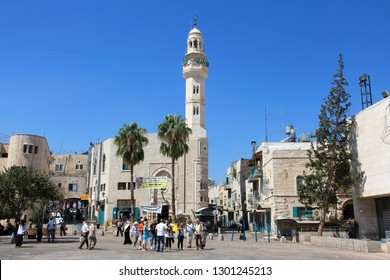 STATE OF PALESTINE, BETHLEHEM, SEPTEMBER 15, 2010: People on the street in Bethlehem, State of Palestine