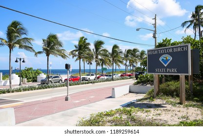 State Road A1A runs directly in front of Hugh Taylor Birch State Park, a Florida State Park located in Fort Lauderdale between A1A and East Sunrise Boulevard.