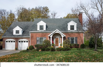 Stately Cape Cod House in Fall