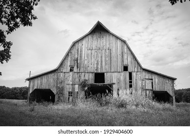 Stately old barn in rural Bates County Missouri