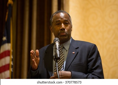 STATEN ISLAND, NY - JANUARY 4, 2016: Presidential candidate Ben Carson hosts Staten Island town hall.