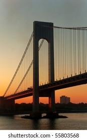 Staten Island Verazzano Bridge at sunrise