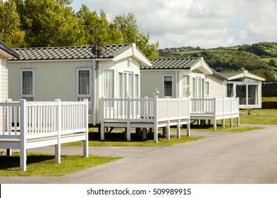 Static caravan Holiday Park in Prestatyn, North Wales, United Kingdom.