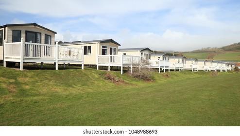 Static caravan park in Ladram Bay near Sidmouth in Devon