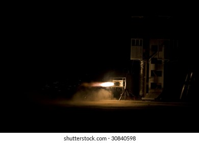 Static Test of a 2000 Lbs Thrust LOX-Kerosene Rocket Motor