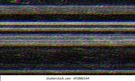 Static tv noise with glitch effect. Abstract background.