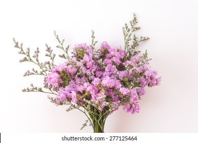 Statice flower images stock photos vectors shutterstock statice flower bouquet on white background mightylinksfo Images