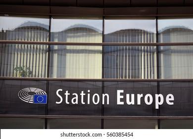 Station Europe, Brussels, Beigium 15/01/2017