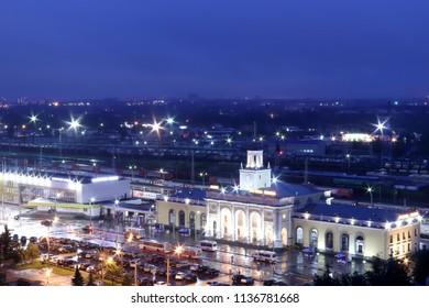 The station square of Yaroslavl. Night