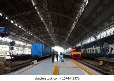 Station Tanjung Priok, Jakarta. April, 19 2019.