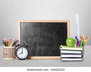 stationery of an assortment  and Blackboard