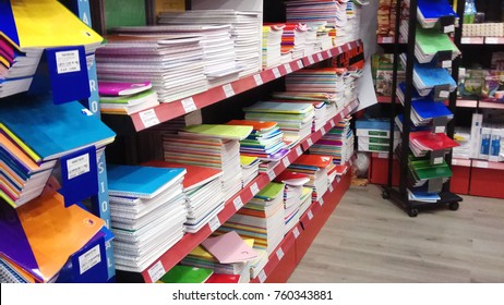 Stationery, notebook, shop
