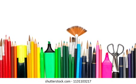 Stationery office school supplies. Back to school